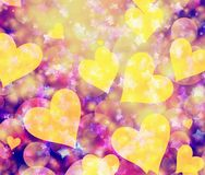 Dreamy light hearts and stars backgrounds. Dreamy light hearts and stars background Royalty Free Stock Image