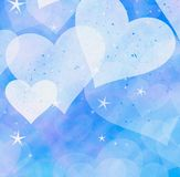 Dreamy light hearts and stars backgrounds. Dreamy light hearts and stars background Stock Image