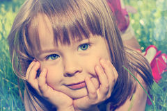 Dreamy little girl Stock Images