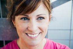 Dreamy middle aged woman portrait Stock Photo