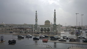Dreamy mosque. A mosque on a rainy day in Riyadh Royalty Free Stock Photos