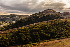 Dreamy mountain range. A beautiful mountain landscape in the italian region named Campania, near the city of Limatola Stock Photography