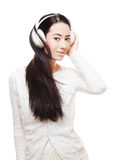 Dreamy music girl. Royalty Free Stock Photography