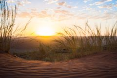A sunset in the Dunes Royalty Free Stock Photo
