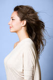 Dreamy profile portrait. Royalty Free Stock Photos