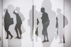 Dreamy silhouettes Stock Photos