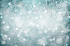 Dreamy silver blue colored snowfall Christmas and New Year illus Royalty Free Stock Photos