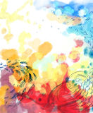 Abstract colorful dreamy bird fly background Royalty Free Stock Photo