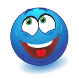 Dreamy smiley. Vector illustration. Royalty Free Stock Photo