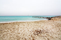 Dreamy soft paradise beach Stock Images