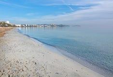 Dreamy soft winter beach Stock Image