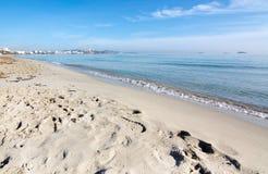 Dreamy soft winter beach Stock Photos