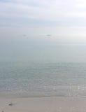 Dreamy soft winter beach Stock Photo