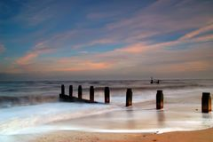 Dreamy Southwold Beach Royalty Free Stock Photo