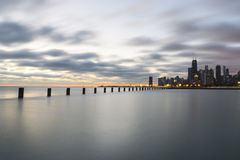 Dreamy Sunrise By Lake Michigan, Chicago Illinois stock photography