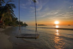 Dreamy sunset of Andaman sea Royalty Free Stock Photo