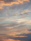 Dreamy sunset sky. Dreamy sky with wispy clouds during the late evening sunset Stock Photography