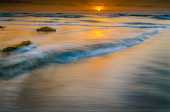 Dreamy Sunset. Was shot at La Jolla Shores near San Diego, California.  I used a long exposure to soften it up whie keeping the color Stock Photo