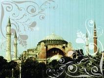 Dreamy swirl hagia sophia. Illustration Royalty Free Stock Image