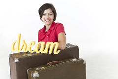 Dreamy traveler Stock Image