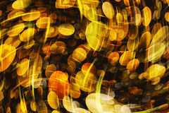 Dreamy warm Round Shapes in Chaotic Arrangement. Bokeh backgrounds Stock Images