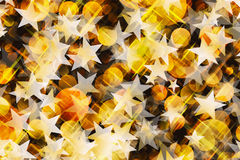 Dreamy warm Round Shapes and stars in Chaotic Arrangement Royalty Free Stock Photos