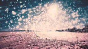 Dreamy winter wonderland in Germany postcard style. Winter wonderland in Germany postcard style stock photo