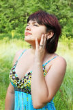 Dreamy woman Stock Images
