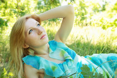 Dreamy woman Royalty Free Stock Image