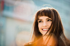 Dreamy woman portrait Royalty Free Stock Images