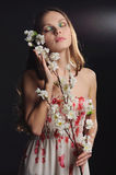 Dreamy womans portrait. Royalty Free Stock Photo