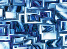 Dreamy world of view through abstract blue window frames Royalty Free Stock Photo