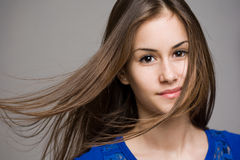 Dreamy young brunette. Stock Photography