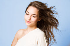 Dreamy young brunette beauty. Stock Photography