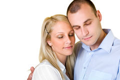 Dreamy young couple. Royalty Free Stock Images