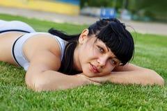 Dreamy young girl Stock Photos