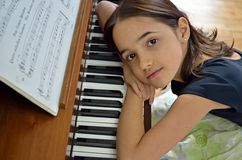 Dreamy Young Pianist Stock Image