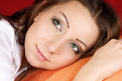 Dreamy young woman Royalty Free Stock Image