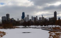 Dreary Day Skyline Royalty Free Stock Photography