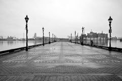 Dreary Pier. A dreary pier on a cold December day in Baltimore Stock Images