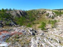 Dreckloch auf dem Baikalsee Stockfoto