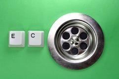 Dreckloch mit Tastaturtasten Lizenzfreie Stockbilder