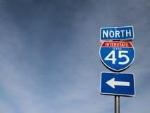 Drection дорожного знака северное стоковые фотографии rf