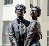 Dred Scott e moglie Harriet Robinson Statue immagini stock