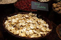 Dried shallots Stock Photography