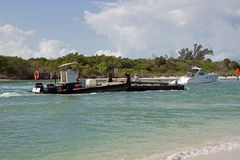 A Dredge Boat Entering the Gulf of Mexico Royalty Free Stock Photo