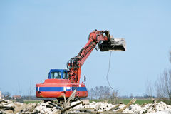 Dredge at demolition site Stock Image