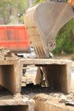 Dredge and dump truck Stock Photo