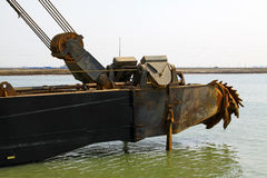Dredge front parts in the sea Royalty Free Stock Photography