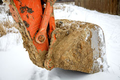 Dredge ladle  in the winter Stock Photos